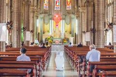 Beautiful stone Catholic Cathedral. Nha Trang Cathedral in Nha Trang, Vietnam Stock Photos