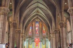 Beautiful stone Catholic Cathedral. Nha Trang Cathedral in Nha Trang, Vietnam royalty free stock photography
