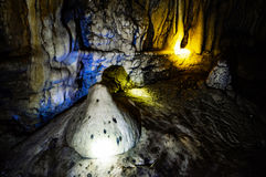 Beautiful stone in cave Royalty Free Stock Images