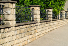 Beautiful stone fence Royalty Free Stock Photo