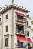 Beautiful stone  hotel  building  in Sitges,Spain Royalty Free Stock Photography