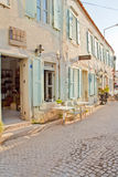 Beautiful Stone House in Alaçati. Beautiful Stone Street in Alaçati İzmir,Turkey Royalty Free Stock Image