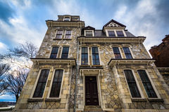 Beautiful stone house on Front Street, in downtown Harrisburg, P Royalty Free Stock Image