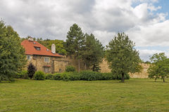Beautiful Stone house in Park Royalty Free Stock Photography