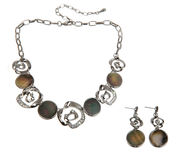 Beautiful stone necklace and earrings Royalty Free Stock Image