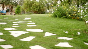 Beautiful stone path on the hotel Stock Photography