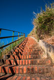 A beautiful stone staircase on the coast Stock Images