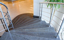 Beautiful stone staircase at the hotel Royalty Free Stock Photos