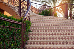 Beautiful stone staircase Stock Images