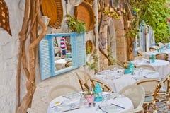 Beautiful Stone Street in Alaçati. İzmir,Turkey Royalty Free Stock Photography