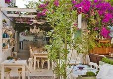 Beautiful Stone Street in Alaçati. İzmir,Turkey Royalty Free Stock Images