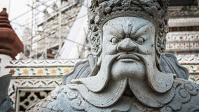 The beautiful of  stone Thai-Chinese style sculpture and thai art architecture. Royalty Free Stock Image