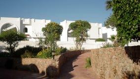 Beautiful stone walkways at the hotel Stock Photos