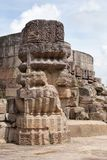 Beautiful stone work of Mayadevi Temple, Konark. Mayadevi temple is located to the southwest portion of the Sun Temple complex and consists of a sanctum and a Royalty Free Stock Image