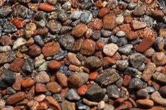 Beautiful stones on the beach stock image