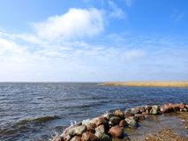 Curonian spit and beautiful cloudy sky, Lithuania Royalty Free Stock Image