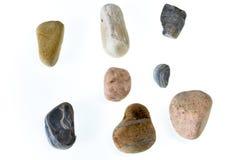Beautiful stones isolated on white background.  stock images