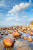 Beautiful stones in the ocean. Baltic Sea coast royalty free stock photo