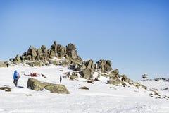 Beautiful stones in the Winter mountain -Vitosha , Bulgaria. Royalty Free Stock Photography