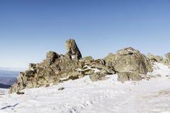 Beautiful stones in the Winter mountain -Vitosha , Bulgaria. Stock Photos