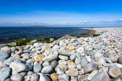 Beautiful stony beach Royalty Free Stock Image