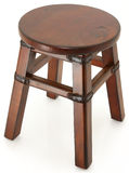 Beautiful Stool with Leather and Rivit Supports Royalty Free Stock Photo