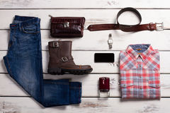 Beautiful storefront of men's clothing. Stock Images