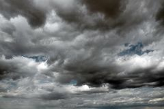 Beautiful storm sky with clouds stock photography