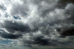 Beautiful storm sky with clouds royalty free stock photos