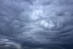 Beautiful storm sky with clouds. Like apokalypse Stock Photo