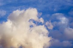 Beautiful stormy cumulus clouds in the sky, background.  royalty free stock image