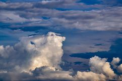 Beautiful stormy cumulus clouds in the sky, background.  royalty free stock photography
