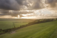 Beautiful stormy landscape over contryside Stock Photography