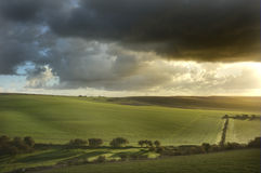 Beautiful stormy landscape over countryside Royalty Free Stock Photography