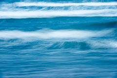 Beautiful stormy ocean. Scenic waterscape. Scenic view of bright blue rough ocean with big foamy waves. Picturesque sea. Beautiful stormy waterscape and natural royalty free stock photo