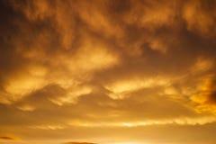Beautiful stormy sunset sky. stock image