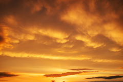 Beautiful stormy sunset sky. Cloudy abstract background. Stock Image