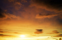 Beautiful stormy sunset sky. Cloudy abstract background. stock photography