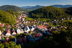 Beautiful Stramberk in Czech republic. View from famous tower Royalty Free Stock Photography