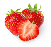 Isolated strawberries stock photos
