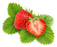Isolated strawberries Royalty Free Stock Images