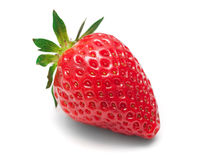 Beautiful strawberries isolated on white Royalty Free Stock Photos