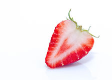 Beautiful strawberries isolated on white Royalty Free Stock Image