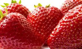 Beautiful strawberries isolated on white Stock Image