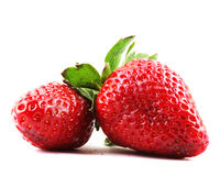Beautiful strawberries  on white Royalty Free Stock Photography