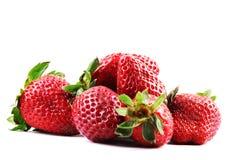 Beautiful strawberries  on white Stock Image