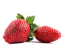 Beautiful strawberries  on white Stock Image