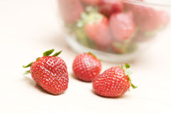Beautiful strawberry. In a bowl close-up Royalty Free Stock Images