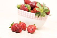 Beautiful strawberry. In a bowl close-up Stock Image