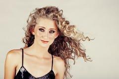 Beautiful strawberry blond teenage girl . Royalty Free Stock Photos